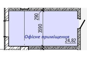 ТРЦ и БЦ Акварель 5: планировка помощения 24.82 м²