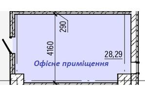ТРЦ и БЦ Акварель 5: планировка помощения 28.29 м²