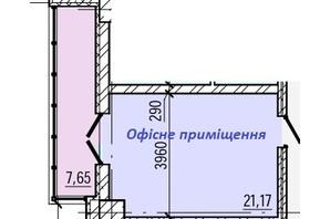 ТРЦ и БЦ Акварель 5: планировка помощения 28.82 м²