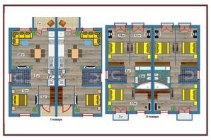 Таунхаус Амстердам: планировка 4-комнатной квартиры 110 м²