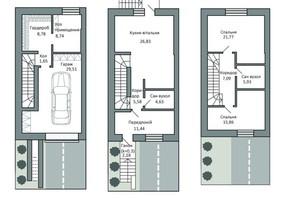 Таунхаус Borispol Village: планування 2-кімнатної квартири 146.4 м²
