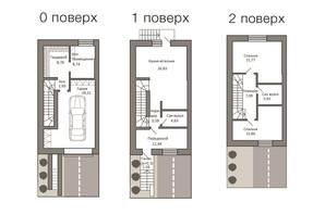 Таунхаус Borispol Village: планування 3-кімнатної квартири 148.95 м²