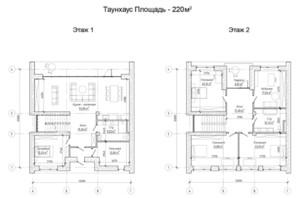 Таунхаус Comfort City Lagoon: планировка 4-комнатной квартиры 220 м²