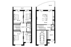 Таунхаус Дулова: планировка 4-комнатной квартиры 173 м²