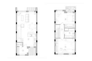 Таунхаус Eastville: планування 2-кімнатної квартири 102.05 м²