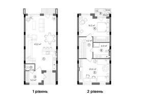 Таунхаус Eastville: планування 1-кімнатної квартири 102.05 м²