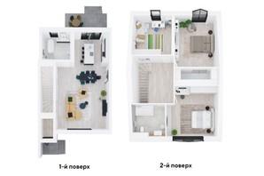Таунхаус Ecopark 1: планування 3-кімнатної квартири 174 м²