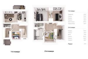Таунхаус Ecopark 2: планування 4-кімнатної квартири 114 м²