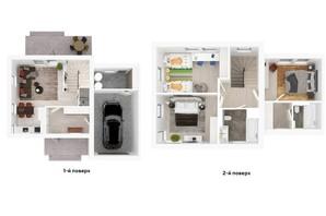 Таунхаус Ecopark 3: планування 3-кімнатної квартири 144 м²