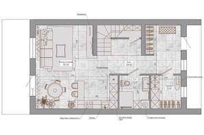 Таунхаус Европейский: свободная планировка квартиры 128 м²