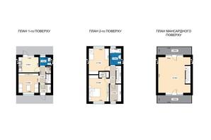 Таунхаус Family town: планування 4-кімнатної квартири 124.2 м²