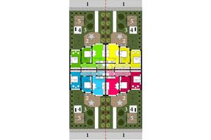 Таунхаус Grand Family Village: планировка 2-комнатной квартиры 55 м²