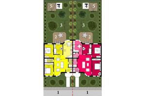 Таунхаус Grand Family Village: планировка 4-комнатной квартиры 91 м²