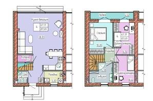 Таунхаус Green Home: планування 3-кімнатної квартири 92 м²