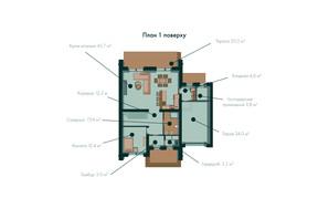 Таунхаус Green Wall: планування 3-кімнатної квартири 255.4 м²