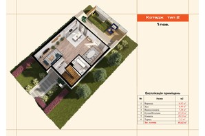 Таунхаус If Village: планування 4-кімнатної квартири 130 м²