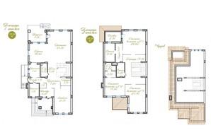 Таунхаус Італійський квартал: планування 4-кімнатної квартири 257 м²