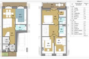 Таунхаус Козирна Сімка: планування 3-кімнатної квартири 119.6 м²