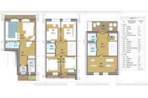 Таунхаус Козирна Сімка: планування 4-кімнатної квартири 167.7 м²
