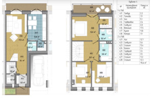 Таунхаус Козырная Семёрка: планировка 3-комнатной квартиры 115.6 м²