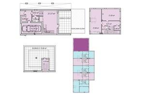 Таунхаус Лавандовый: планировка 4-комнатной квартиры 142.18 м²