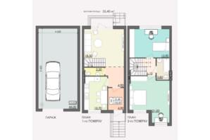 Таунхаус Мальованка: планировка 3-комнатной квартиры 132 м²