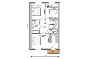 Таунхаус Мальви: планування 4-кімнатної квартири 120 м²