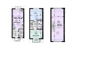 Таунхаус Мануфактура: планування 3-кімнатної квартири 141.76 м²