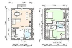 Таунхаус Мануфактура: планування 3-кімнатної квартири 82.7 м²