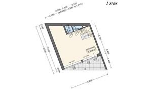 Таунхаус Містечко Здоров'я: планування 3-кімнатної квартири 88 м²