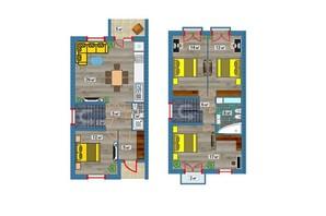 Таунхаус Озерний: планування 3-кімнатної квартири 100 м²