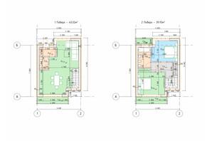 Таунхаус Парковый городок: планировка 2-комнатной квартиры 80 м²