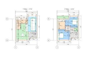 Таунхаус Парковый городок: планировка 2-комнатной квартиры 95 м²