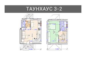 Таунхаус Плюс: планування 3-кімнатної квартири 94 м²