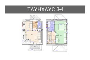 Таунхаус Плюс: планировка 2-комнатной квартиры 80 м²