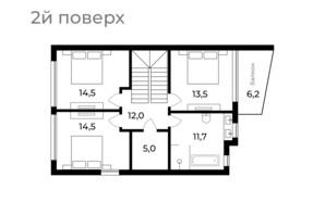 Таунхаус Sherwood: планировка 4-комнатной квартиры 147 м²