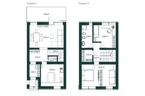 Таунхаус Soul City: планировка 2-комнатной квартиры 104 м²