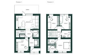 Таунхаус Soul City: планировка 2-комнатной квартиры 113 м²