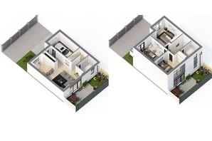 Таунхаус Sttk#3: планування 4-кімнатної квартири 135 м²