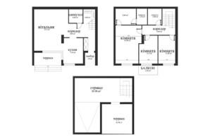 Таунхаус Sunset: планування 3-кімнатної квартири 195 м²