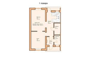 Таунхаус «Ваш Затишок»: планування 4-кімнатної квартири 116.95 м²