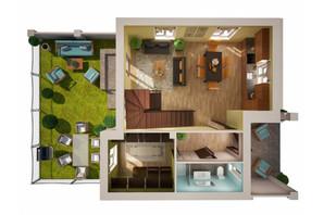 Таунхаус Вілла Троянд: планування 3-кімнатної квартири 118 м²