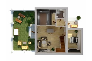 Таунхаус Вілла Троянд: планування 5-кімнатної квартири 162.7 м²