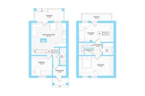 Таунхаус Welldom: планування 3-кімнатної квартири 92.6 м²