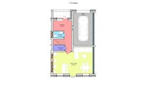 Таунхаус Westside: планування 4-кімнатної квартири 134.76 м²