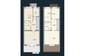 Таунхаусы Европейский квартал: планировка 3-комнатной квартиры 151.93 м²