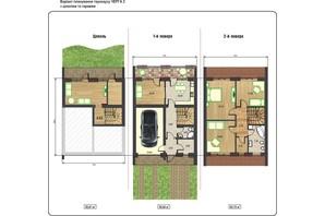 Таунхауси Мікрорайон Дендропарковий: планування 4-кімнатної квартири 153 м²