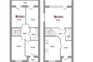 Таунхауси Новий Парковий: планування 5-кімнатної квартири 133 м²