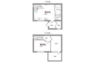 Таунхауси Новий Парковий: планування 3-кімнатної квартири 77 м²