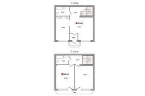 Таунхауси Новий Парковий: планування 2-кімнатної квартири 122 м²